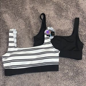 Gym to Swim bralettes